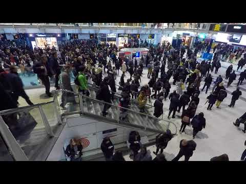 Crush hour at Liverpool St Station