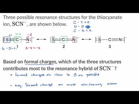 Formal charges to distinguish between nonequivalent resonance structures