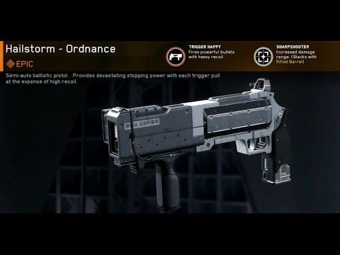 Epic Hailstorm Ordnance Variant Infinite Warfare Gun Review