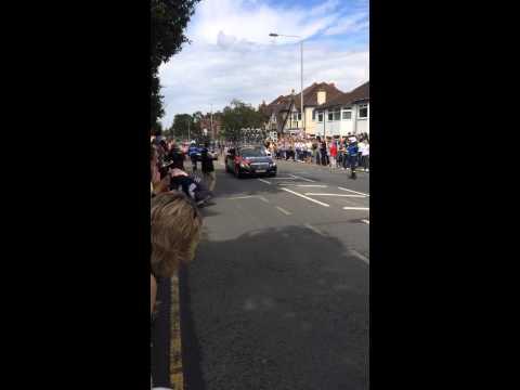 La Tour de France 2014 crash in Woodford