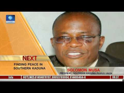 Sunrise Daily: Solomon Musa Speaks On Finding Peace In Southern Kaduna Pt. 1