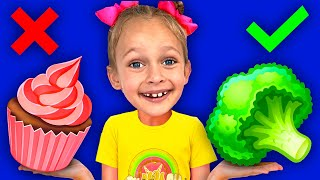 Yes Vegetables No Sweets   Nursery Rhymes & Kids Songs   Maya and Mary