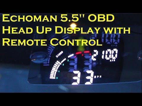 """Car Head-Up Display ECHOMAN 5.5"""" OBD HUD - GEARBEST"""