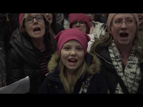 """Church of Stonewall """"Quiet"""" Flashmob Stockholm Central Station 8 March 2017"""