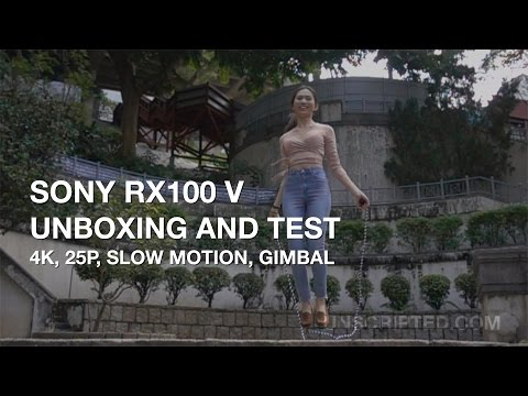 Sony Rx100 V Unboxing and Test - 4k, Slow Motion, Gimbal