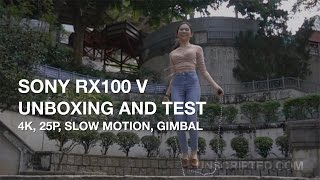 Video Sony Rx100 V Unboxing and Test - 4k, Slow Motion, Gimbal download MP3, 3GP, MP4, WEBM, AVI, FLV Juli 2018