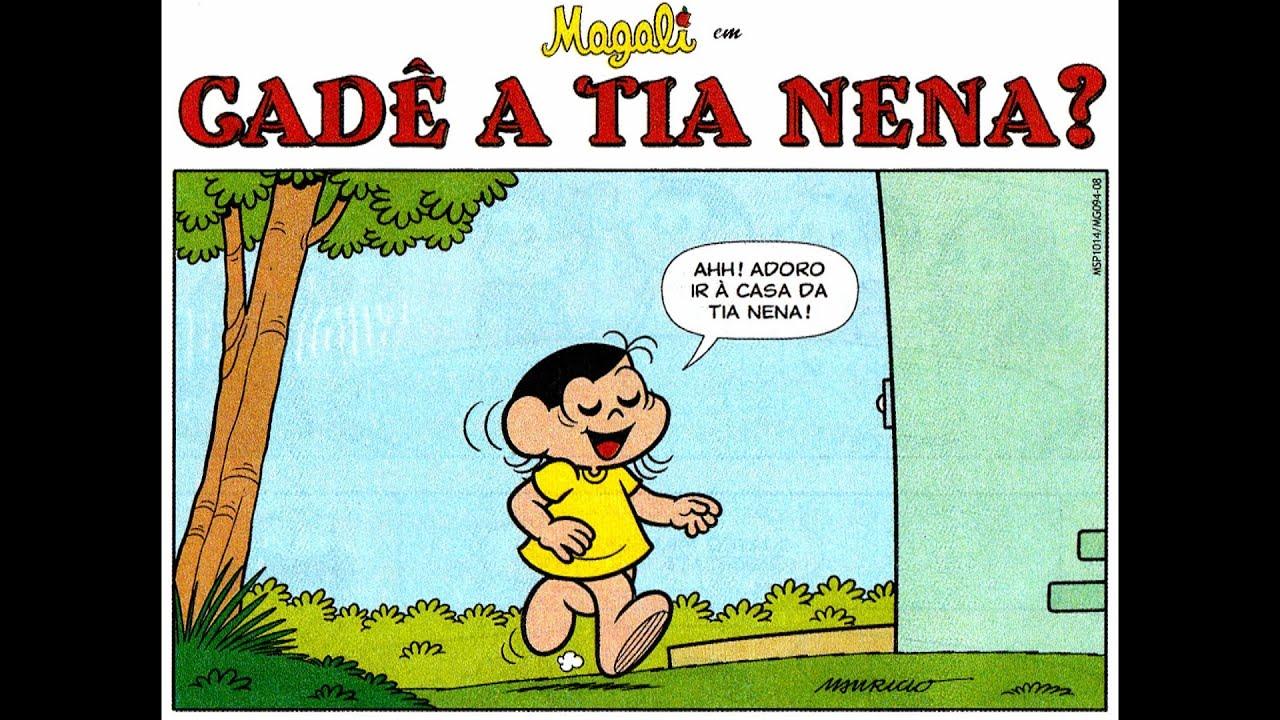 História em Quadrinhos nº 885-Magali em-Cadê a tia Nena?