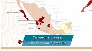 En la presentación del nuevo semáforo Covid, seis estados se mantienen en rojo y el resto en naranja