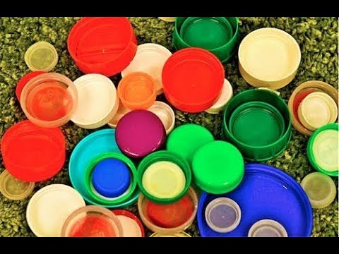 how to make use of waste container caps for beautiful crafts at home/ganesh umbrella at home\diy