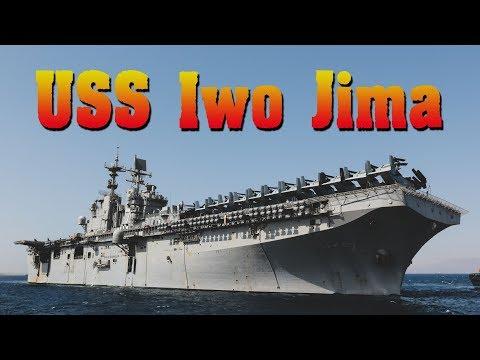 On board the Wasp class amphibious assault ship USS Iwo Jima