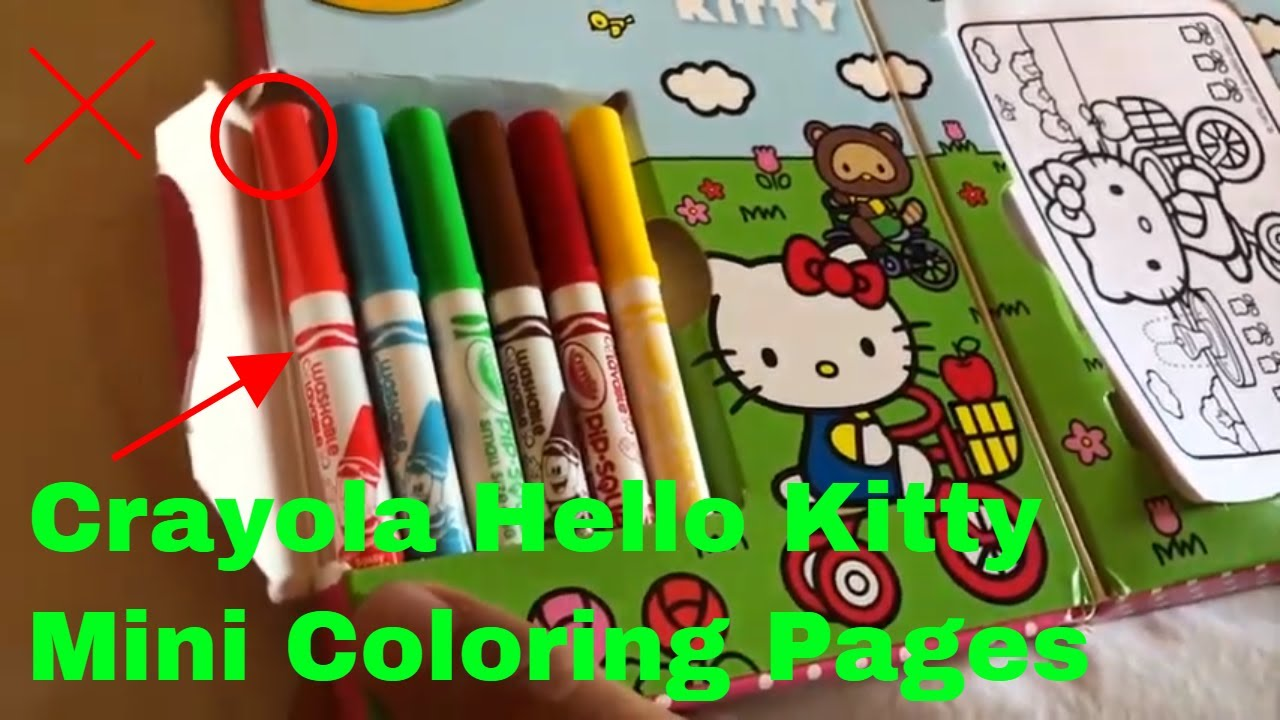 How To Use Crayola Hello Kitty Mini Coloring Pages Review