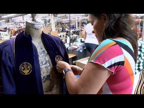Oak Hall Cap Gown Made Here At Home Youtube