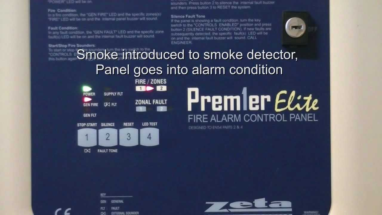 Zeta Addressable Fire Alarm Wiring Diagram Ion Thruster Panel Demo Premier Youtube
