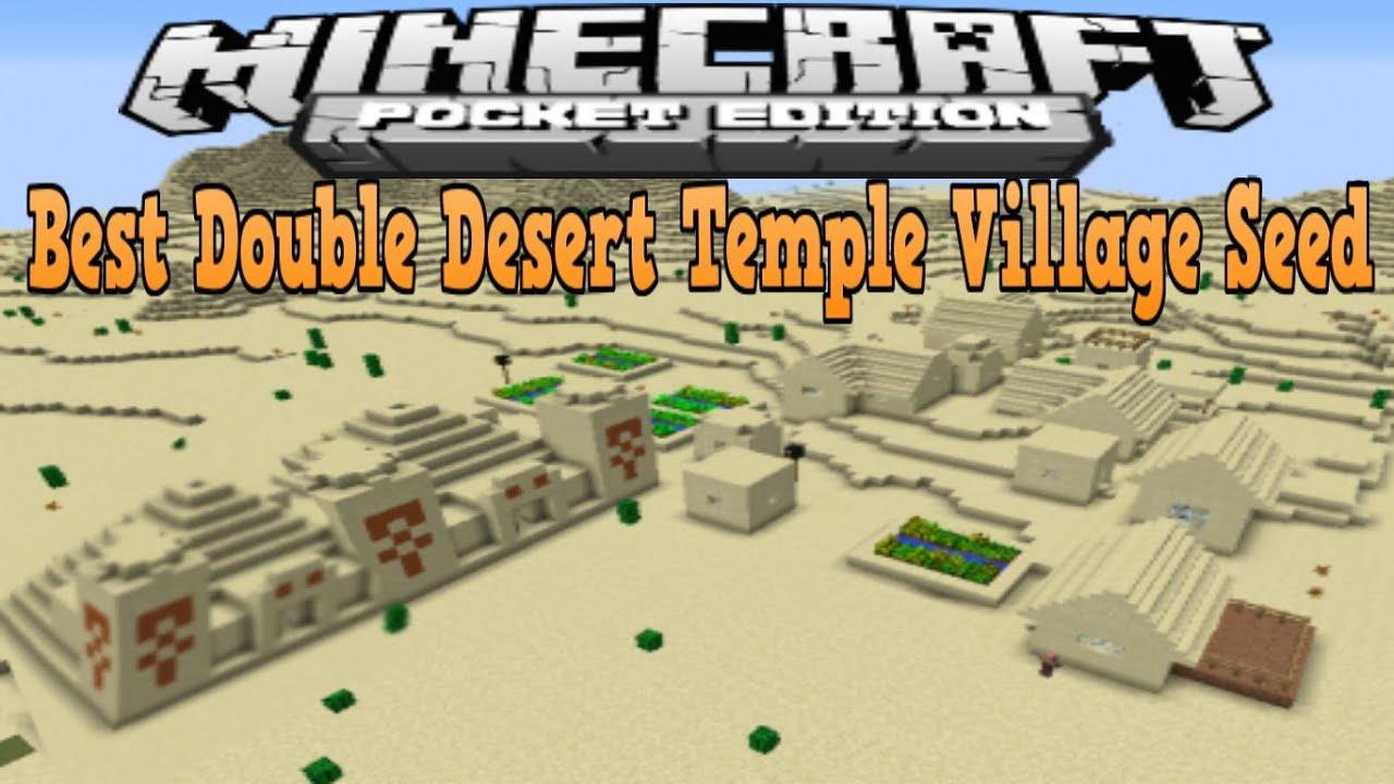 minecraft pe desert village seed