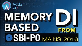 SBI PO 2017 | Memory Based DI From SBI PO MAINS 2016 | Maths | Online Coaching for SBI IBPS Bank PO