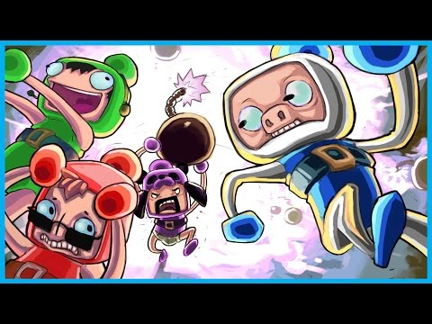 Super Bomberman R Funny Rage! - Panda Breaks His TV, It's Raining Bombs! (Nintendo Switch Gameplay)