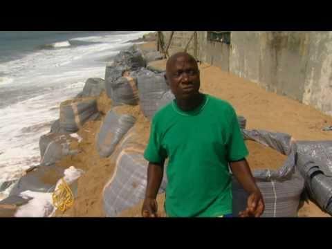 Benin battles rising seas
