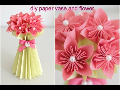 DIY Paper Flower Vase and Flower || Easy DIY || Paper Craft || Inspiration kidzone