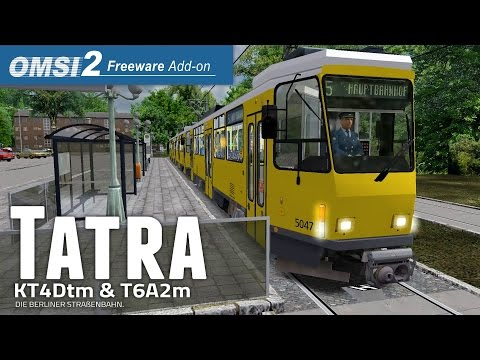 OMSI 2 Tatra T6A2m Großraumzug | Preview + News zur Tatra KT4Dtm & T6A2m ☆ Let's Play OMSI 2