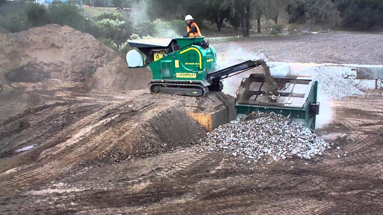 Lem Track 48 25 Mobile Jaw Crusher Crushing Concrete W