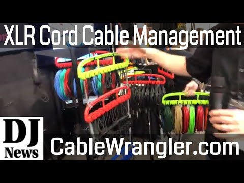 "Cable Wrangler XLR and 1/4"" Cord Management System For Mobile DJs and Sound Professionals"
