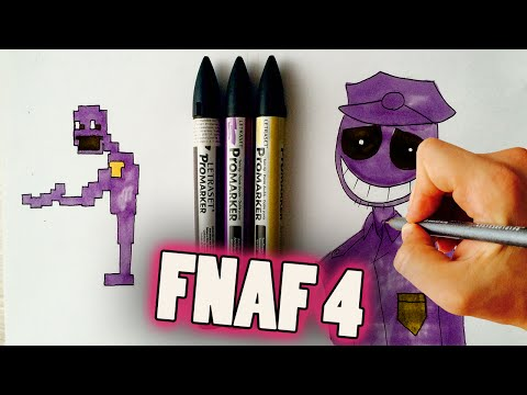 How To Draw Purple Guy From Five Nights At Freddy's 4 (FNaF 4) Drawing Lesson