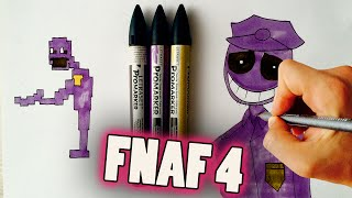 How to draw Purple Guy from Five Nights at Freddy
