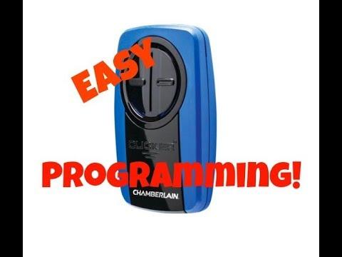 How To Program A Chamberlain Klik3u Universal Garage Door Opener