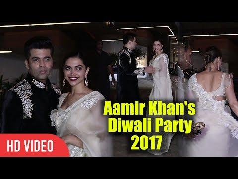 Deepika Padukone With Karan Johar At Aamir Khan's Diwali Party 2017   Aamir Ki Diwali Party