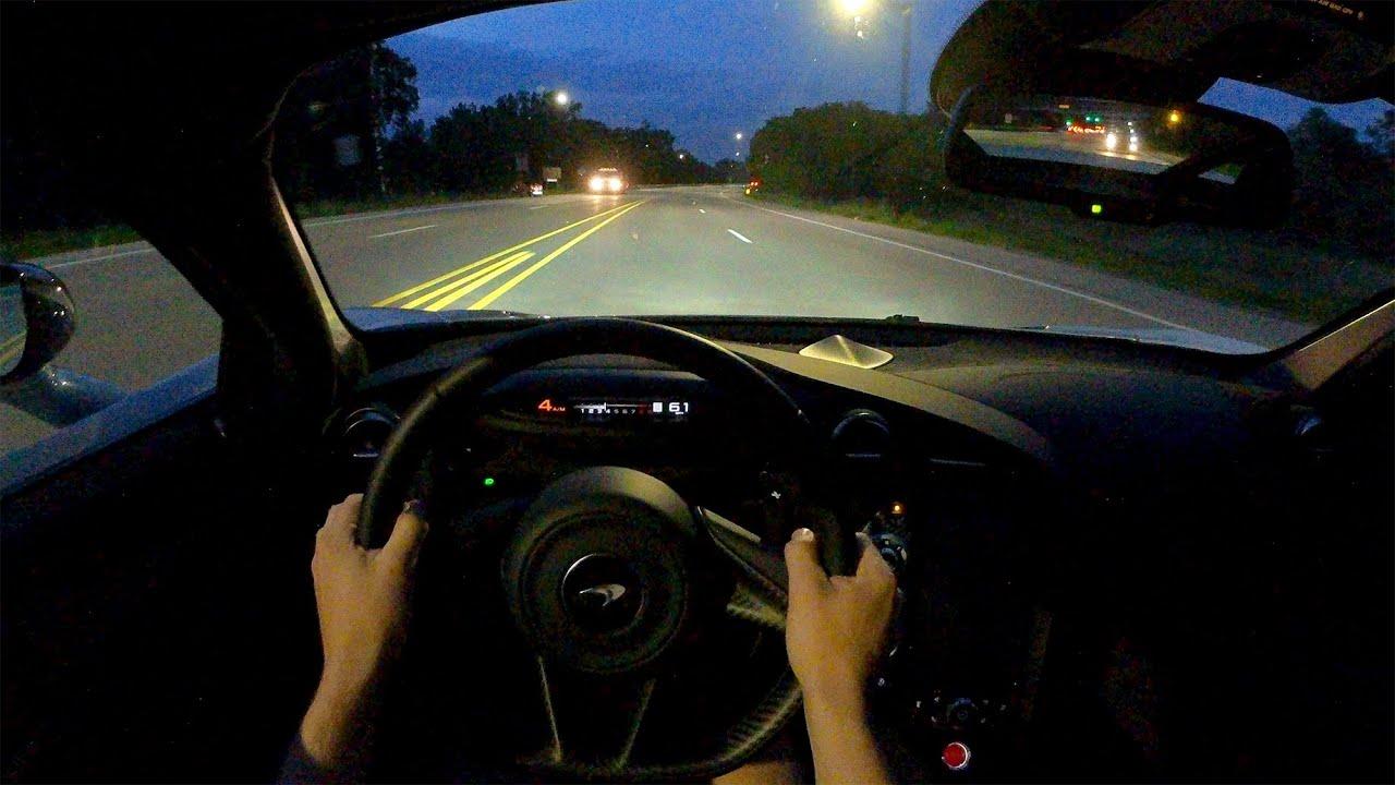 2021 McLaren 720S Coupe - POV Night Drive (Binaural Audio)