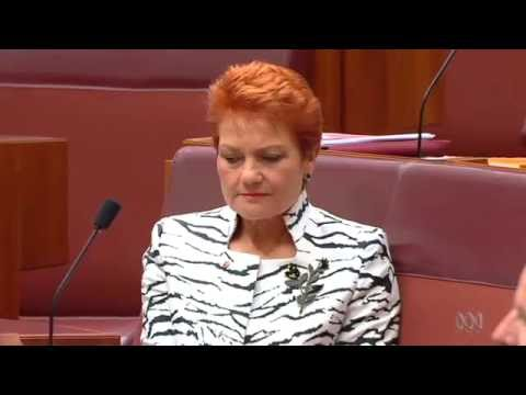 Pauline Hanson eyerolls Malcolm Roberts