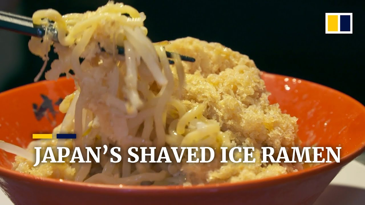 Japanese restaurant creates shaved ice ramen to beat summer heat