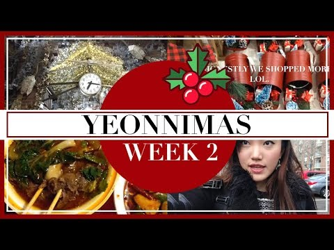 final papers, chelsea market nyc, christmas shopping, etc. 🎄💕| yeonnimas 2017 (2/4)