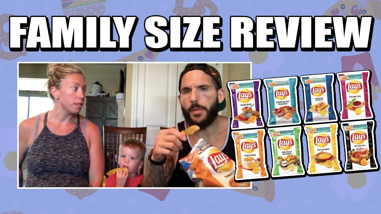 Family Size Review: Lays' Tastes of America Flavors - YouTube