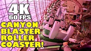 Canyon Blaster Roller Coaster Back Seat Onride POV Adventuredome Las Vegas 4K 60FPS