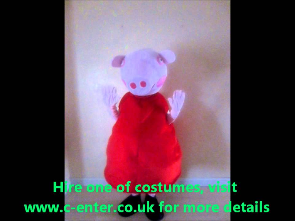 sc 1 st  YouTube & Miss Pippa Pig - Costume hire - fancy dress - Birmingham - YouTube
