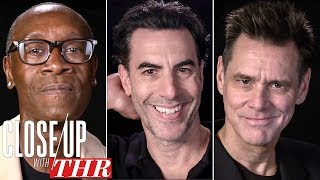 Comedy Actors Roundtable Sacha Baron Cohen Jim Carrey Don Cheadle & More Close Up