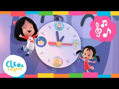 HICKORY DICKORY DOCK. Cleo & Cuquin. Nursery Rhymes I Songs For Children