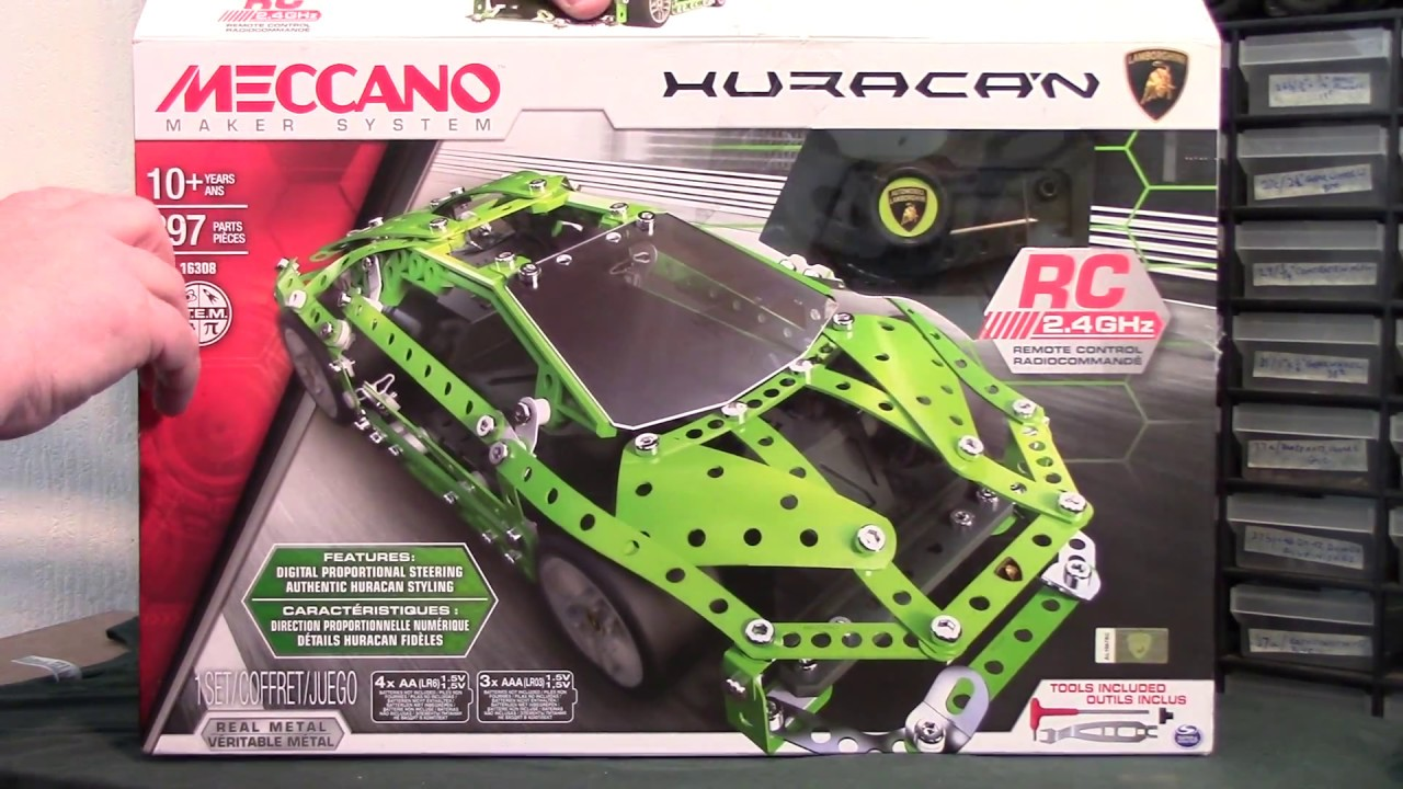 meccano maker system lamborghini huracan r c set 2016. Black Bedroom Furniture Sets. Home Design Ideas
