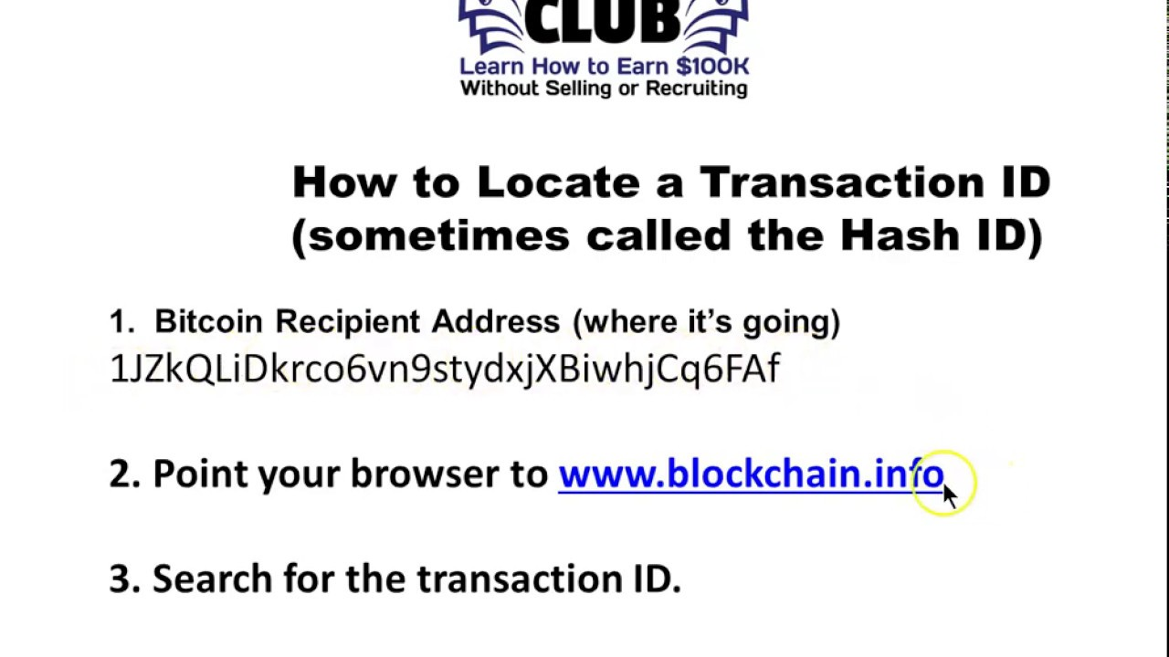 what is transaction id in bitcoin