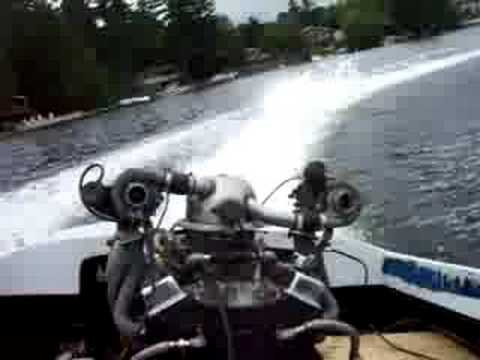 Twin turbo Jet boat