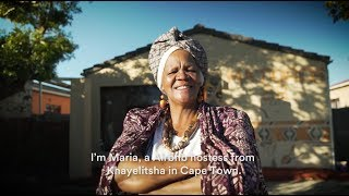 Meet Maria, an Airbnb host from Khayelitsha Township in the Western Cape | Airbnb Citizen
