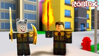 Two people suddenly became superhero Flash! - Roblox 2 Player Superhero Tycoon with Panda