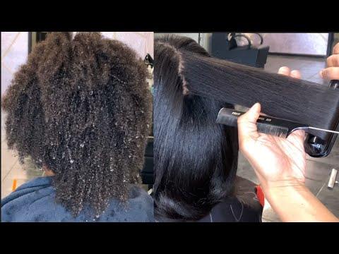 Silk Press and trim on 4B hair   Natural hair silk press