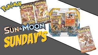 Pokemon Lost Thunder + Sun&Moon Base Litton 3 Pack Blister + Burning Shadows -Sun&Moon Sunday's-