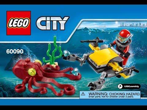 LEGO City Deep Sea Explorers 60090 Scuba Scooter Instructions Book DIY
