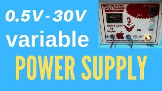 How to make Variable DC power supply    voltage controlled Adjustable DC supply 0V   30V