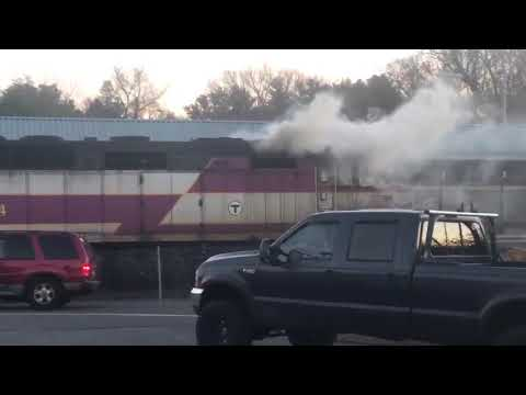 MBTA Kingston Commuter Rail train catches fire