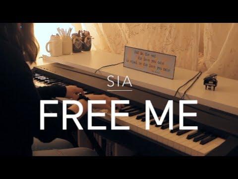 Sia Free Me Piano Cover Lyrics On Screen Youtube