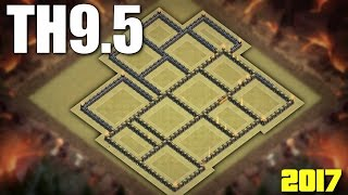 Town Hall 9.5 (TH9.5 ) War Base 2017 ♦ NO INFERNO / 3rd X-BOW / 2nd BT |  CLASH OF CLANS